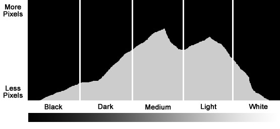 Photography Histogram Example