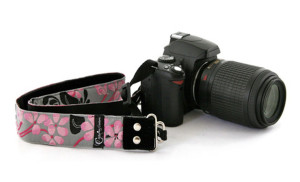 Capturing Couture Camera Strap - Hibiscus Moo